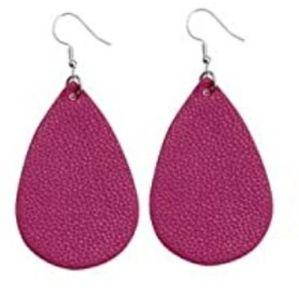 BOGO Purple Faux Leather Earrings